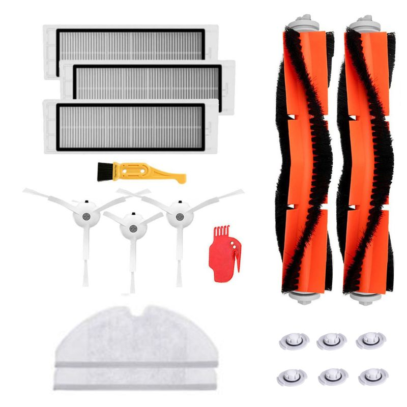 18 pièces/ensemble accueil aspirateurs brosses filtre pièces remplacement pour Xiao mi mi Robot Roborock s50 s51 Roborock 2 aspirateur