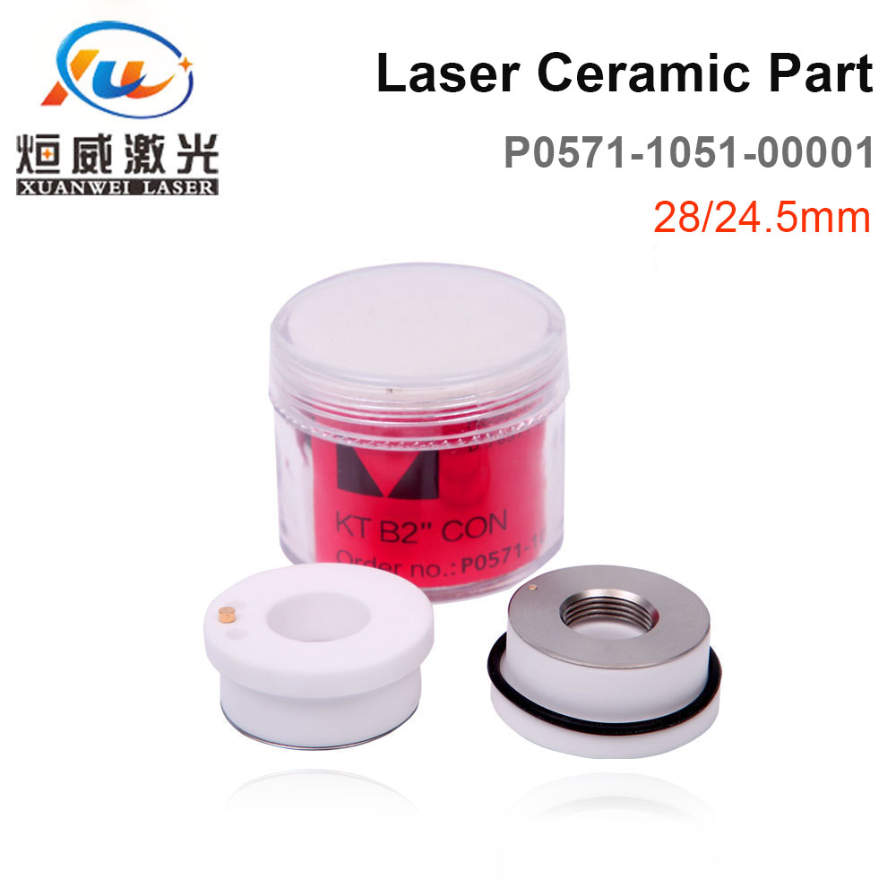 Precitec Laser Ceramic KT B2 CON For Precitec Laser Cutting Head 28mm//24.5mm