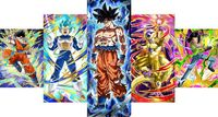 Dragonball HD Canvas Prints 5 Piece Canvas Art Vegeta Dragon Ball Z Super Saiyan Painting Goku