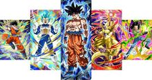 Dragonball HD Canvas Prints 5 piece canvas art vegeta dragon ball z super saiyan painting  Goku and Vegeta poster Dragon