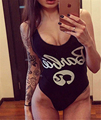 Funny Swimsuit One Piece Bodysuit For Women THE ANGEL BARBIE Elegant Jumpsuit Tumblr Party Costume Monokini letter Playsuit