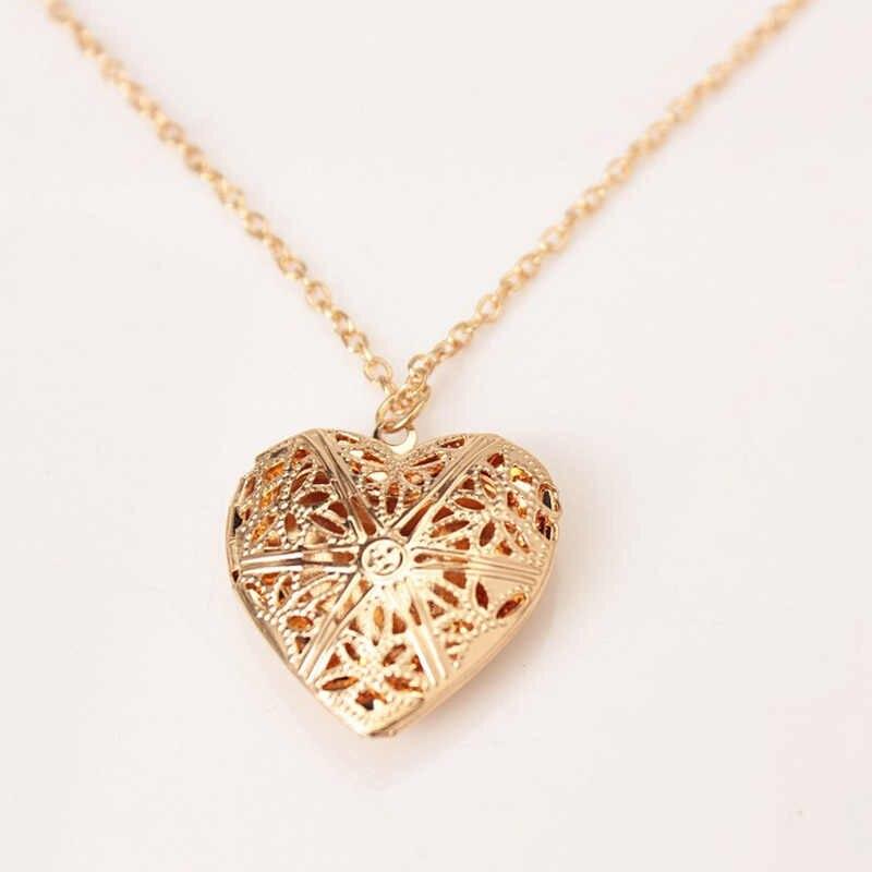 القلب قلادة للنساء الرجال المجوهرات سلسلة المنجد صورة قلادة قلادة هدية ل أمي صديقة بيان القلائد الذهب الفضة
