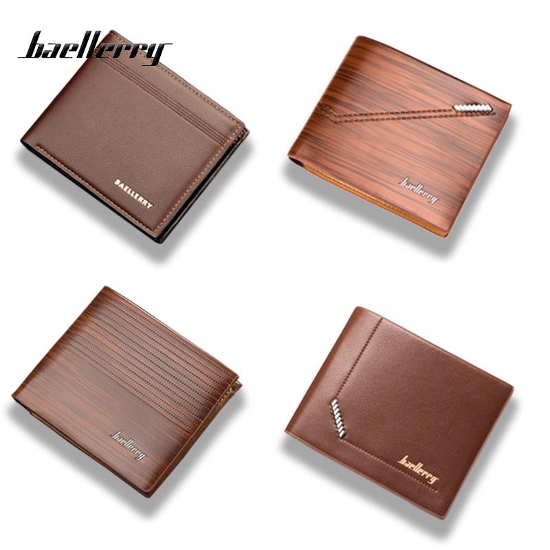 Baellerry Men Wallet Purses Short Small Fashion High-Quality Luxury Brand Gentleman