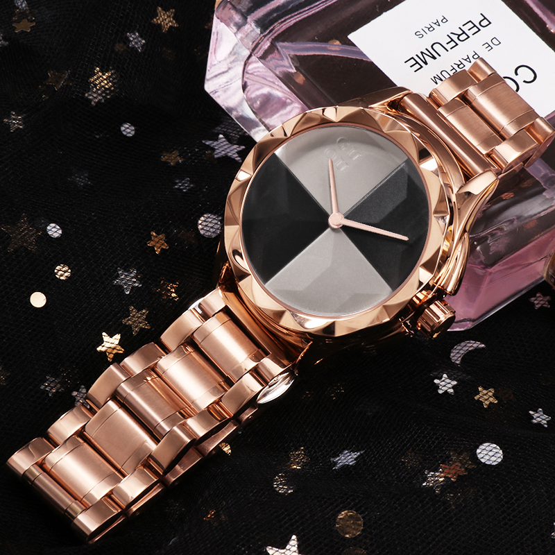 Fashion Rose Gold Watch Women GUOU Top Brand Luxury Women Watches Stainless Steel Ladies Watch Women's Watches Clock Reloj Mujer sk top luxury brand fashion womens watches clock women steel mesh strap rose gold bracelet quartz watch reloj mujer 2017 new hot