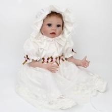 22 inch Reborn Baby Doll Royal Baby Princess Baby Girl doll in Soft Gentle Touch Silicone Vinyl