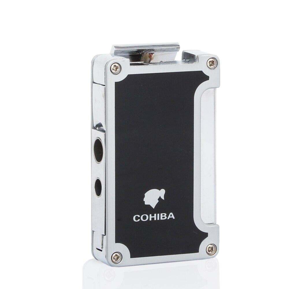 COHIBA гаджет для многоразового бутан Jet Запальные средства для мангала 3 Факел сигары Авто-прикуриватели ветрозащитный Fire Starter с сигарой удар