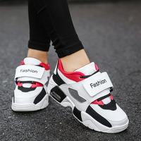 05428b6e320ce 2019 Women Thick Bottom Platform Shoes Buckle Design White Mesh Breathable  Women Chunky Sneakers High Street