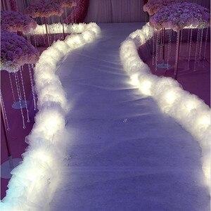 New Arrival ślubny ołtarz biegaczy T Station dedykowane wskazujące drogę z napisami światła ciąg przędzy Ornament Party rekwizyty do dekoracji dostaw