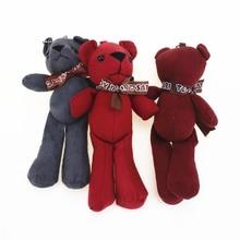 18cm Cute Bear Stuffed Plush Bear Bag ornaments Stuffed Animals Teddy Bear Small Pendant Cute Plush