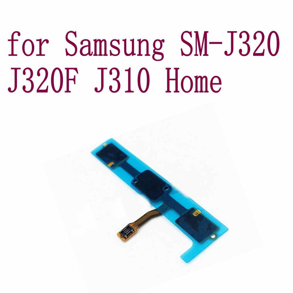 الكثير المنزل زر الكابلات المرنة القائمة العودة مفتاح إصلاح اللمس الاستشعار الصوت أجزاء لسامسونج غالاكسي SM-J320 J320F J310 هاتف محمول