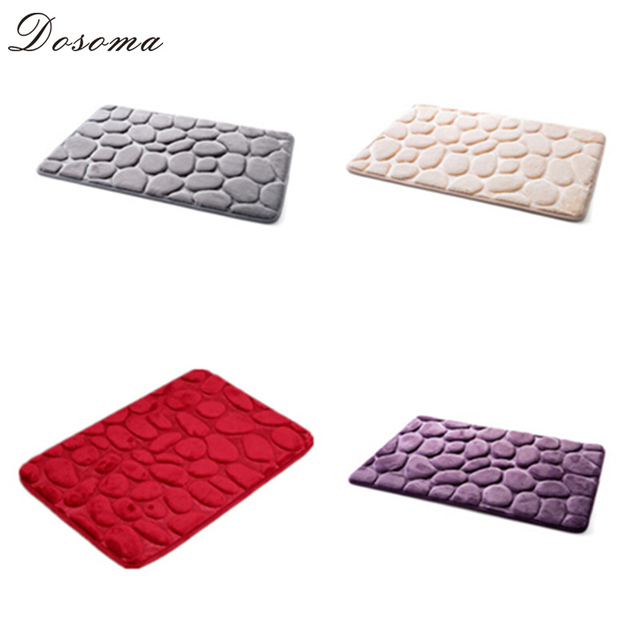 US $11.79 |40*60cm 3D Stone Non Slip Bedroom Carpets Toilet Accessories Mat  Bathroom Rug 4 Colors Banyo Paspas Tapis Salle De Bain-in Bath Mats from ...