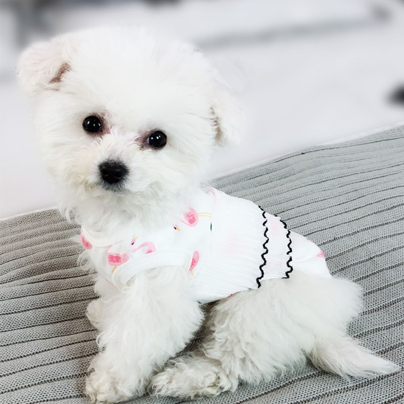 2018 Hot Dog Clothes for Small Dogs Puppy Vest Chihuahua Clothes Flamingos Pet Vest for Yo