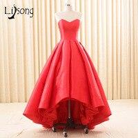 Czerwony Hilow Bez Ramiączek Balu Togi vestido de festa Kobiety Skromna Suknia Czerwony Dywan Suknia vestido formatura marsala