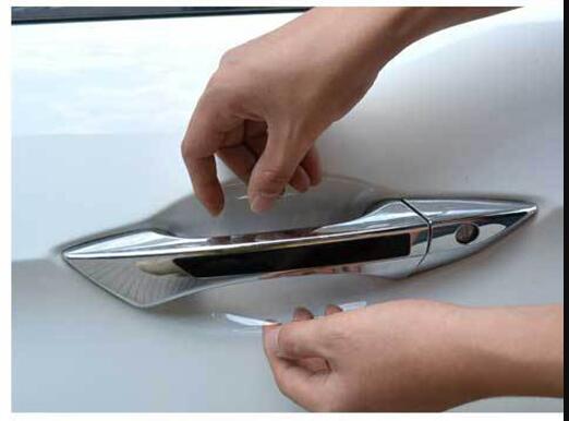 8Pcs/2set LOT Car Handle Protection Film Car Exterior Transparent Sticker Automotive Auto Accessories Car Styling Car sticker