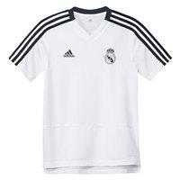 Adidas REAL MADRID TRAINING BOYS football shirt polyester White Jersey Real Madrid, shirts Adidas