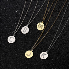 NEWBUY Trendy 26 Letters Pendant Necklace For Women Men AAA+ CZ Alphab