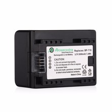 Powerextra 2000mAh BP-718 Rechargeable Li-ion 3.7v Battery for Canon Camcorders VIXIA HF R52 Camera free shipping