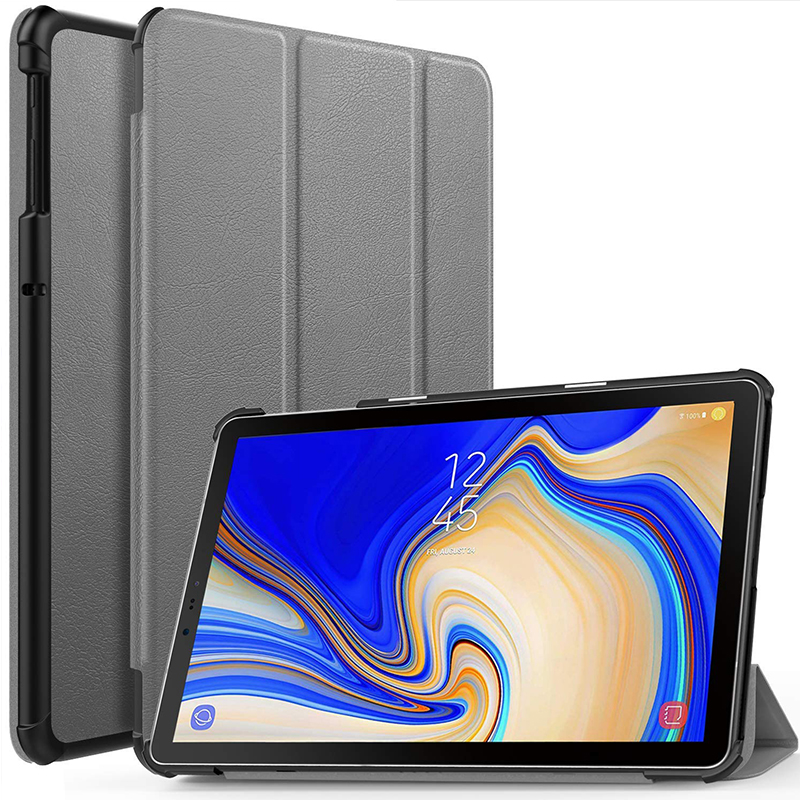 Smart PU Leather Case For Samsung Galaxy Tab S4 10.5 2019 SM-T830 T835 T837 Magnetic Flip Stand PC Hard Cover For Galaxy Tab S4