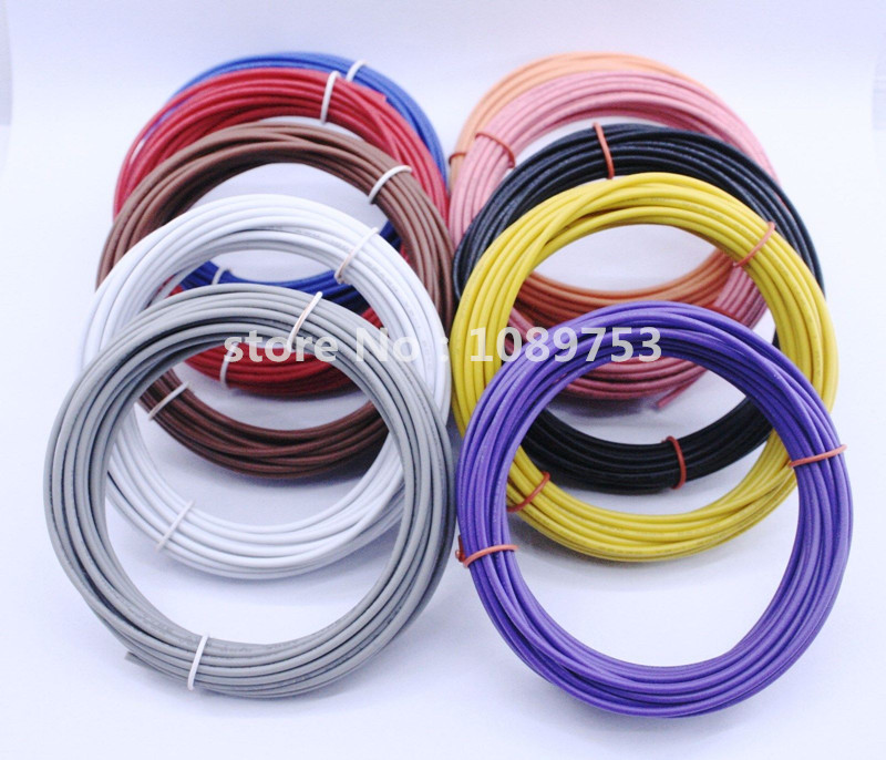 5 Meters <font><b>UL1007</b></font> Electronic Wire 22awg 1.6mm PVC Stranded Wire Electronic Cable UL Certification #22 image