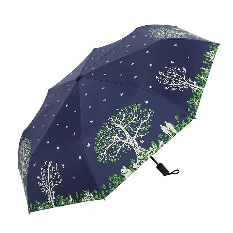 3 taitettava sateenvarjo naisten sade anti-UV-suojan ja sateenvarjo - Kotitaloustavarat - Valokuva 4