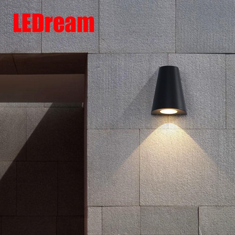 Garden light waterproof outdoor led wall lamp Nordic contemporary , corridor lamp creative exterior balcony wall lamp