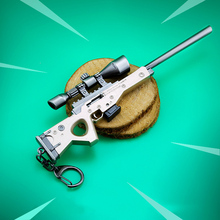 Kids Toy Fortnite Battle Royale Action Figure FORTNITE AWM Model Alloy Weapons FORNIGHT Keychain