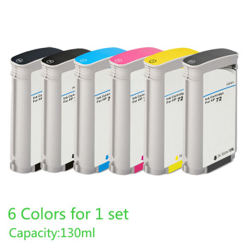 Compatible For HP 72 Ink Cartridge DesignJet T610 T620 T770 T790 T795 T1100 T1120 T1200 T1300 T2300 Printer image