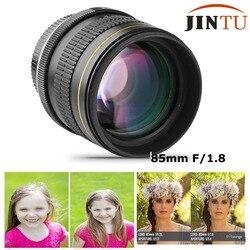 Jintu 85mm f/1.8-f22 retrato manual asférico câmera lente telefoto para canon eos 5d mark iii ii 7d ii 6d 80d 70d 60d 60da 40d