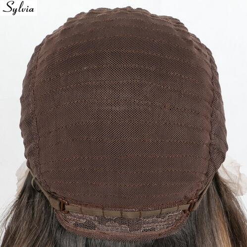 Sylvia dark brown braided box braids synthetic lace front wigs for woman natural micro braiding heat resistant fiber hair
