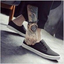 Primavera zapatos de lona de Verano calzado de moda masculina zapatos mocasines planos de los hombres casuales zapatos para caminar