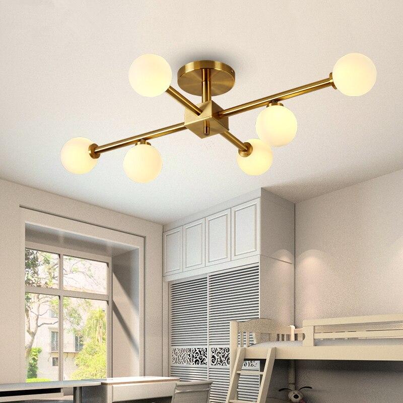 Postmodern LED chandelier Ceiling nordic deco suspension luminaires living room suspended Lamp Glass Ball bedroom hanging lights
