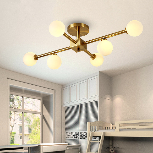 Postmoderne Led Lustre Plafond Nordique Deco Suspension Luminaires