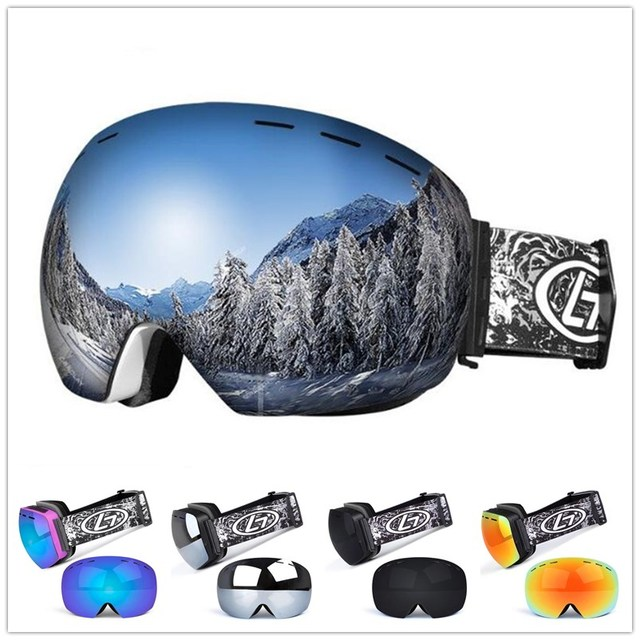886745a2611 Mounchain Unisex Winter Snow Sports Snowboard ski Goggles double layer Anti-fog  UV Protection Snowmobile