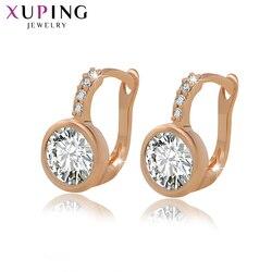 Xuping jóias moda hoop brincos requintado com cobre ambiental para presente de ação de graças feminino S85-20126