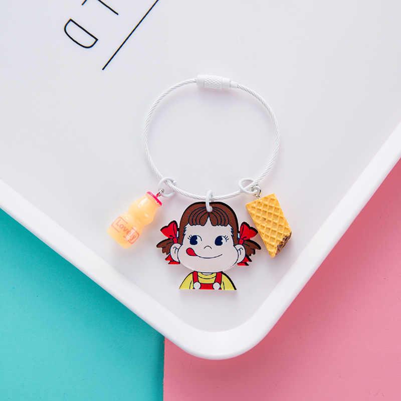 Coreano bonito Dos Desenhos Animados de Bell chaveiro Sailor Moon Luna Gato Preto Forma Chaveiros para As Mulheres Menina Saco Mochila Carteira Telefone Encantos