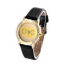 Zhenskiye Chasy 2018 New Top Famous Brand Rhinestone Lady Casual Quartz watches Fashion Black Leather Sport Watch Reloj mujer