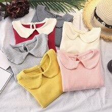 Горячая Распродажа Ins/ г. Новая весенне-осенняя рубашка детская одежда футболка для девочек с длинными рукавами
