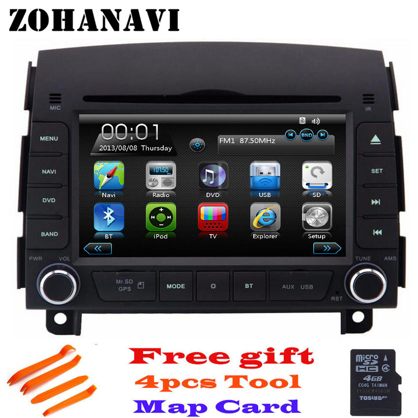 Mode Stijl Zohanavi Auto Dvd-speler Gps Navigatie Auto Radio Stereo Voor Hyundai Sonata Nf Yu Xiang 2004-2008 Auto Scherm Bouwen In Bluetooth