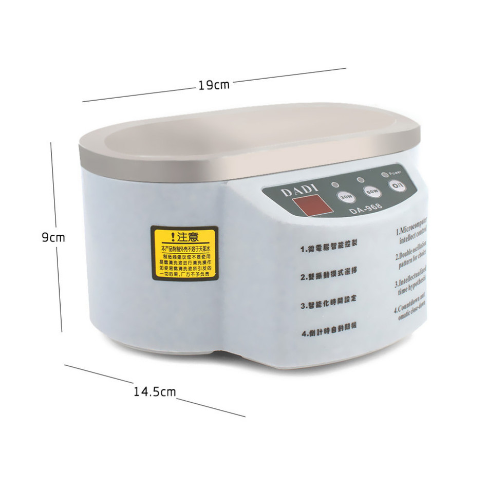 Image 5 - Free Shipping DA 968 New Smart Mini Ultrasonic Cleaner Bath For Cleaning Jewelry Glasses Circuit Board Intelligent Controlmini ultrasonic cleaner bathultrasonic cleaner bathultrasonic cleaner -