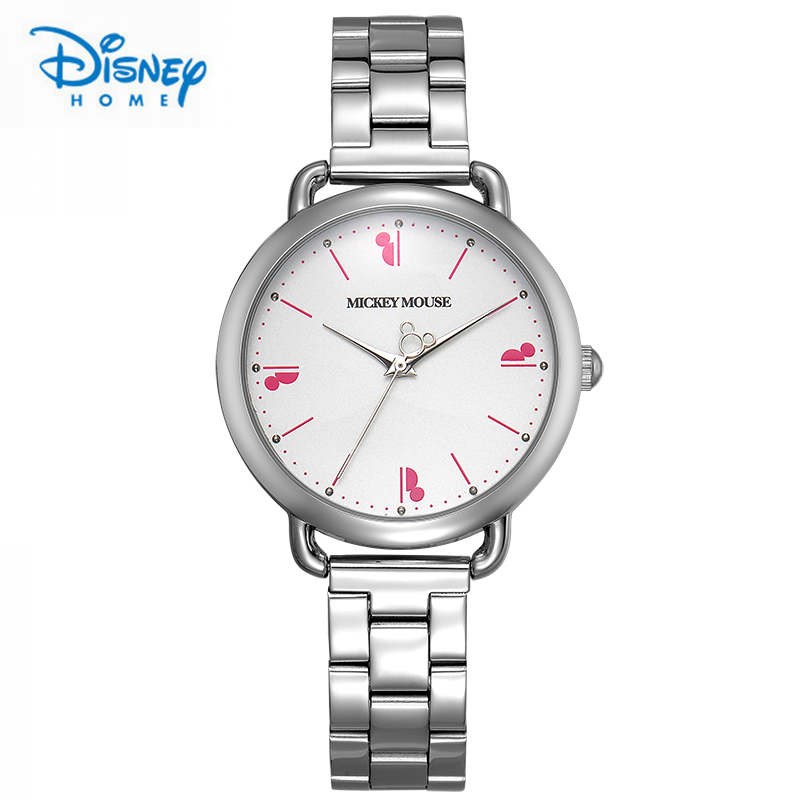 Disney Mickey Mouse Ladies Watches Luxury Watches Women Top Brand Stainless Steel Fashion Quartz Watch for Woman dames horloges onlyou brand luxury fashion watches women men quartz watch high quality stainless steel wristwatches ladies dress watch 8892