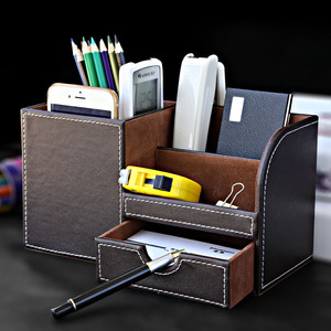 Image 5 - Multi function Desk Stationery Organizer Pen Holder Pens Stand Pencil Organizer for Desk Office Accessories Supplies Stationery