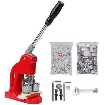 badge machine  kit 25mm Button press Maker Badge Punch Press Machine with  1000 Parts Cutter