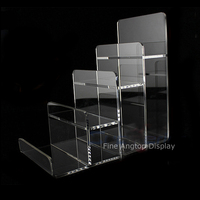 2pcs/lot Clear Acrylic Wallet Display Stand Holder Leather Handbag Purse Display Stand Jewelry Stand Cosmetic Display Racks