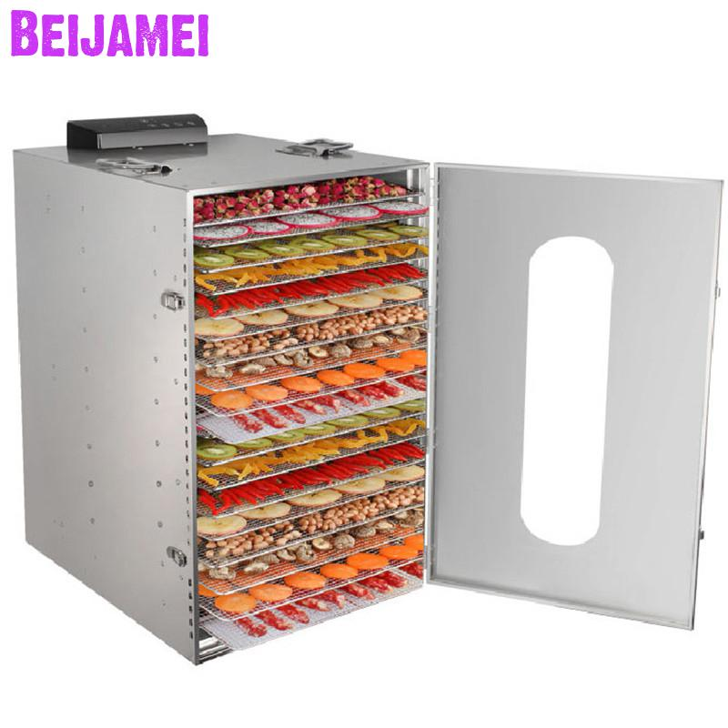 BEIJAMEI 20 Layers Commercial food dehydrator, industrial small fruit drying dryer machine dried fruit vegetables