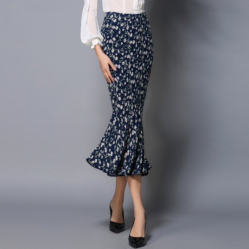 8b53b7c8a0 FRISMODE Fashion Design Mermaid maxi Skirt 2018 New Spring Summer jupe  longue Floral Print Bodycon Sexy saias Women Long Skirt-in Skirts from  Women's ...