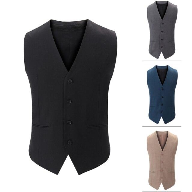 2016 hombres chaleco traje formal superior masculino Traje Bussiness Hombres Chaleco Hombre chaleco por encargo hombre más el tamaño de buena calidad