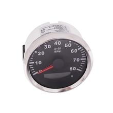 Universal 8000 RPM Meter Motorcycle Car Digital Tachometer Tacho Car Rev counter 8K 12V/24V Red-Backlight j48s jc48s textile meter counter electronic ac220v 24v