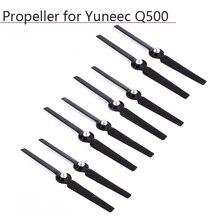 4 pares yuneec q500 hélice câmera zangão liberação rápida adereços para yuneec typhoon q500 4 k auto travamento lâmina peças de reposição