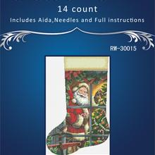 Cross-Stitch-Kits Unprinted Crafts Christmas-Sock Embroidery Oneroom Needlework 14CT