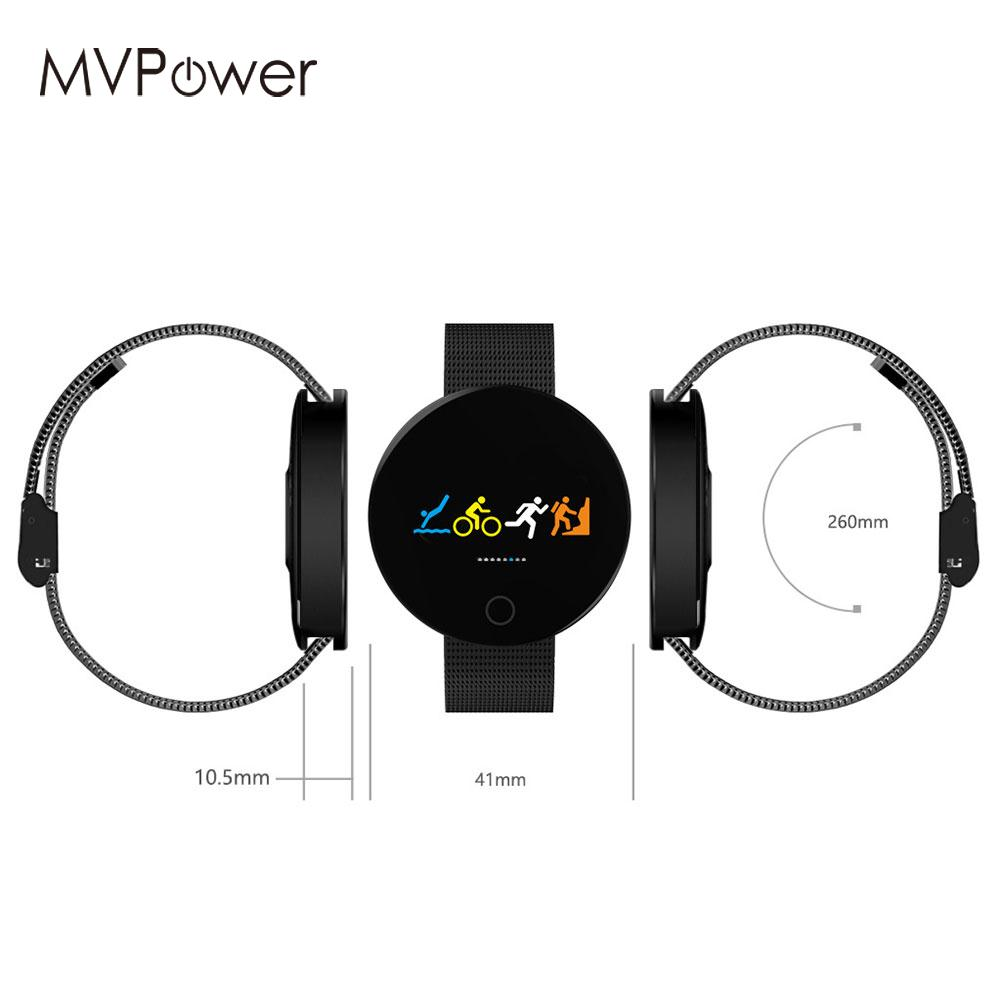 Fashion Smart Watch Smart Wristband Smat Bracelet Blood Pressure Monitor Weather Display Bluetooth OLED Color Screen